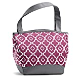 Fit and Fresh 926FFST803 Fit & Fresh Hyannis Insulated Lunch Bag with Reusable Ice Pack (Marron Ikat Geo), 11.5