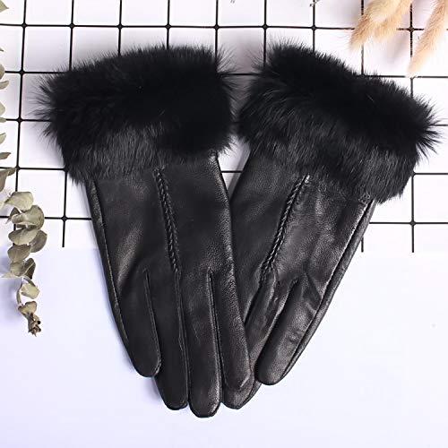 LLUFFY-Gloves Handschuhe Fäustling Weibliche Winter Mund Touchscreen Damen wärmen wirklich Plus SAMT verdicken niedlichen koreanischen kurzen Winter