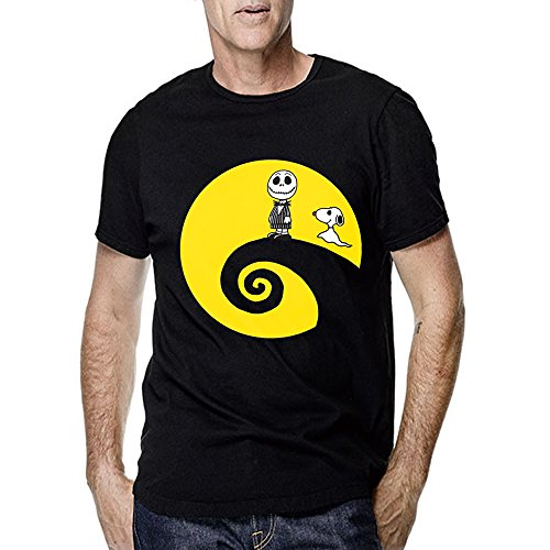 Nightmare Before Christmas Charlie Brown Snoopy for Men T Shirt (X-Large, Black)]()