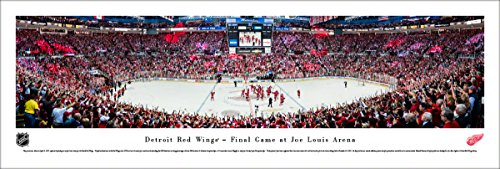 Arena Louis Joe - Detroit Red Wings, Final Game at The Joe - Unframed 40 x 13.5 Poster by Blakeway Panoramas