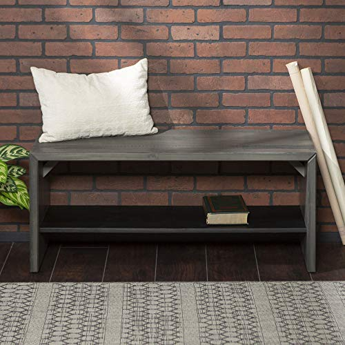 WE Furniture Reclaimed Wood Entry Bench in Gray - 42