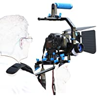 Morros DSLR Rig Movie Kit Shoulder Mount Rig + Follow Focus + Matte Box + Adjust Platform+ C Shape Support Cage +Top Handle for All DSLR Cameras and Video Camcorders