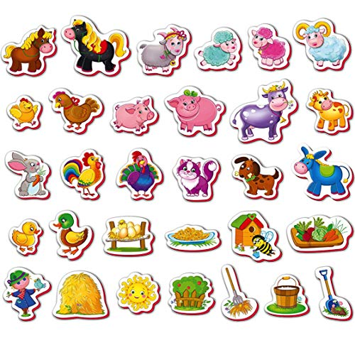 Refrigerator magnets for kids FARM ANIMALS - 31 Foam magnets