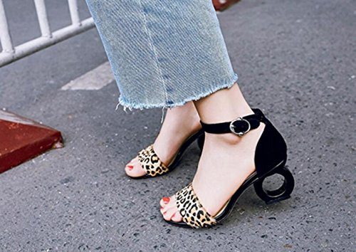 Women Des Mlangs Punta Points D't Avec Open 7cm Black Word Sandals Sandales For Pour Couleur Femmes nnxOCFr