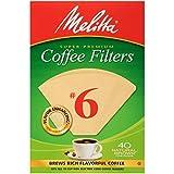 Melitta #6 Super Premium Cone Coffee Filters, Natural Brown, 40 Count (Pack of 12)