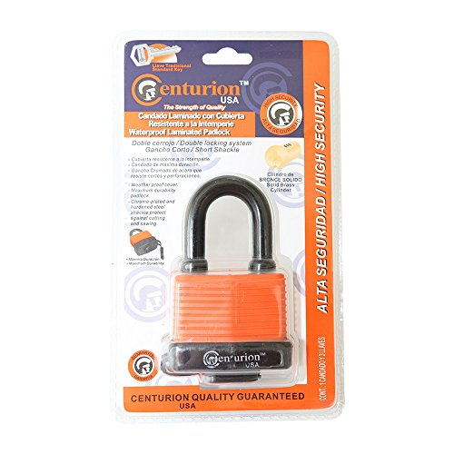 Centurion WPP Laminated Waterproof Padlock, Wide Body - Weather Resistant Outdoor Padlock, 3 Keys Included (40mm Body) by Centurion USA (Image #5)