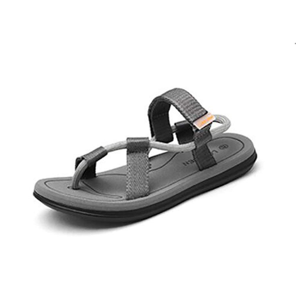 Oudan Sommer Sommer Sommer Sandalen Unisex Flip Flops Beiläufig Rutschfest Draussen Strand Mode Slipper, schwarz, 37 (Farbe   Grau, Größe   42) 0fcb70