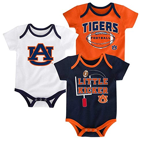(Outerstuff Auburn Tigers 3 Points Baby/Infant 3 Piece Creeper Set 6-9 Months)