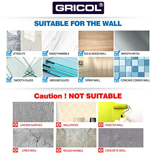 Gricol Bathroom Corner Shower Shelf Wall Shower Caddy Stainless Steel Self Adhesive No Damage Wall Mount (Silver), 2 Pack by Gricol (Image #5)