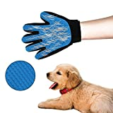 M SANMERSEN Pet Grooming Glove, Grooming Tool Furniture Pet Hair Remover Mitt Gentle De-Shedding Brush for Cats Dogs and Horses