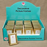 40 Decorative Shiny Gold Picture Frames with Beaded Inner Border Favors