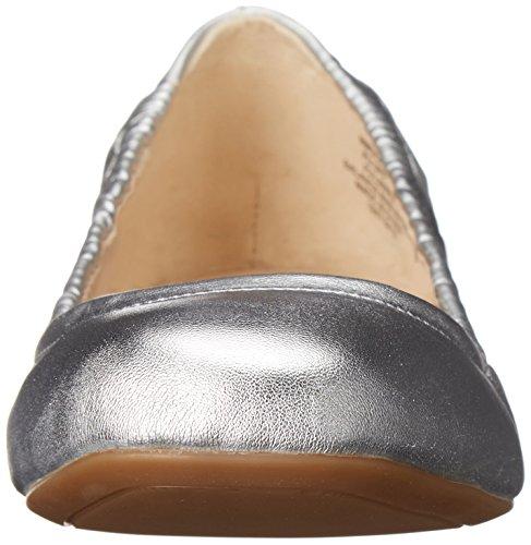 Nine West Portero Ballet sintética plana Silver
