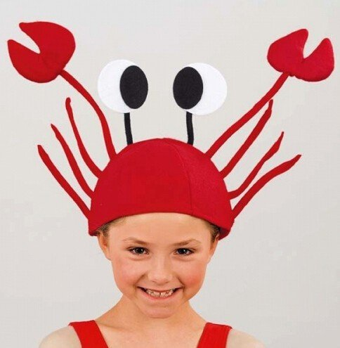 Halloween funny hats for party Unique Cute Crab