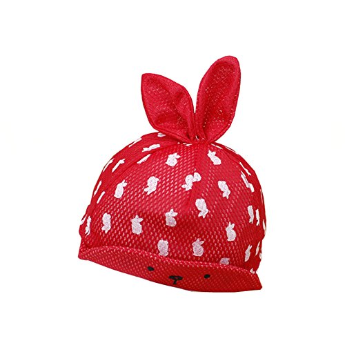 hot sell JINying New Style Baby Cotton Hat Cute Rabbit Ears Cap Boy Girl Hat-pink