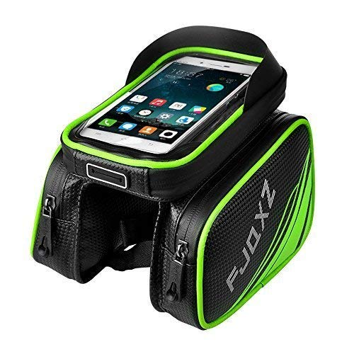fjqxz Bike Bag Bicycle Mobile Cell Phone Bag Case Top Tube Bag Waterproof Handlebar Saddle Bag with Touch Screen Phone Case