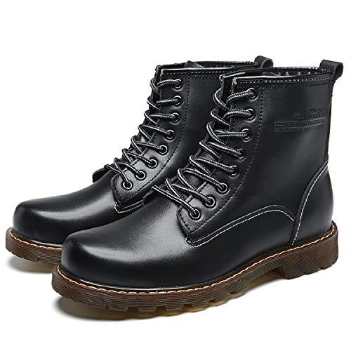Klassischer Boots Schwarz Schuhe Stiefeletten Worker Stiefel Gefüttert Winter LILY999 Wasserdicht Herren Boots Warme Schneestiefel Knöchel Leder 5f6TwxZ