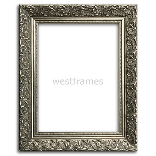 West Frames Bella Ornate Embossed Wood Picture Frame (20'' x 30'', Antique Silver) by West Frames (Image #3)