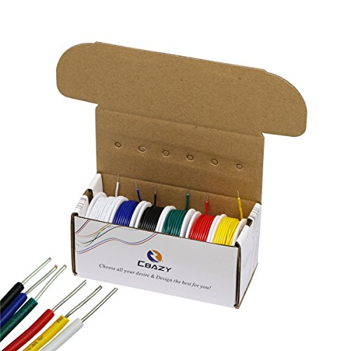 Electrical Wire CBAZY™ Hook up Wire Kit  22 Gauge 6 colors