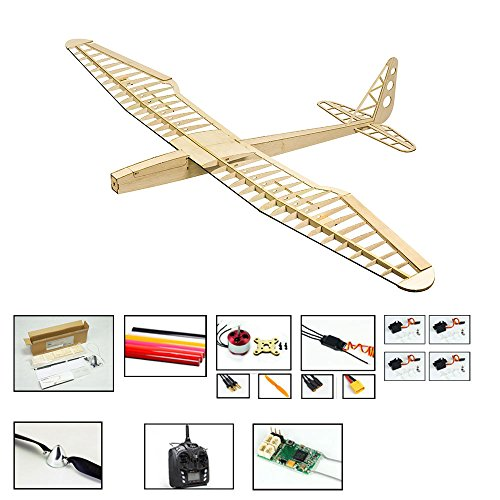 Radio Airplane Kits Control (Balsa Wood Radio Remote Controlled Electric F16 Glider Sunbird Aeroplane Laser Cut Kit Wingspan 1600mm Un-Assembled for Adults;Need to Build for Flying Hobby Play (F1604C-L3))