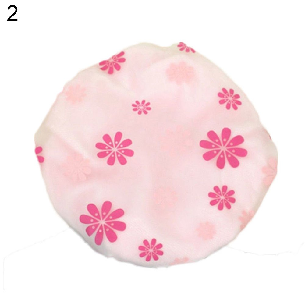 Multi-use Magic Microfiber Hair Fast Drying Quick Dryer Cap Shower Bathing Hat - Pink liyhh
