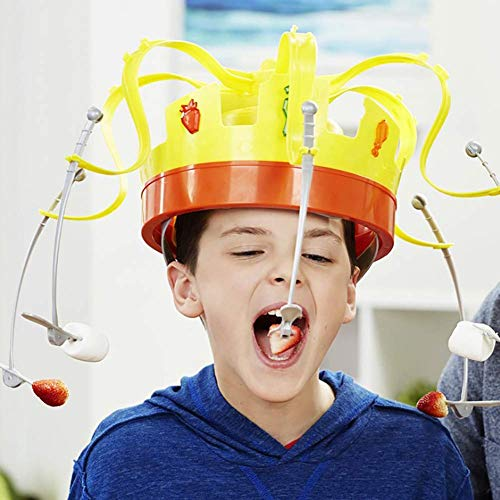 BDFA Novel Chow Crown Game Musical Spinning Crown Snacks Food Party Family Game Toy for Children