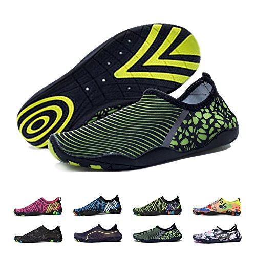 BlanKey Water Sports Shoes Quick-Dry Barefoot Flexible Flats Beach Swim Shoes Men Women Kids