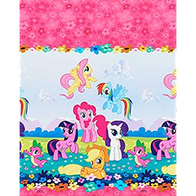 American Greetings Plastic Table Cover for Arts & Crafts, My Little Pony Party Supplies (1-Count): Toys & Games