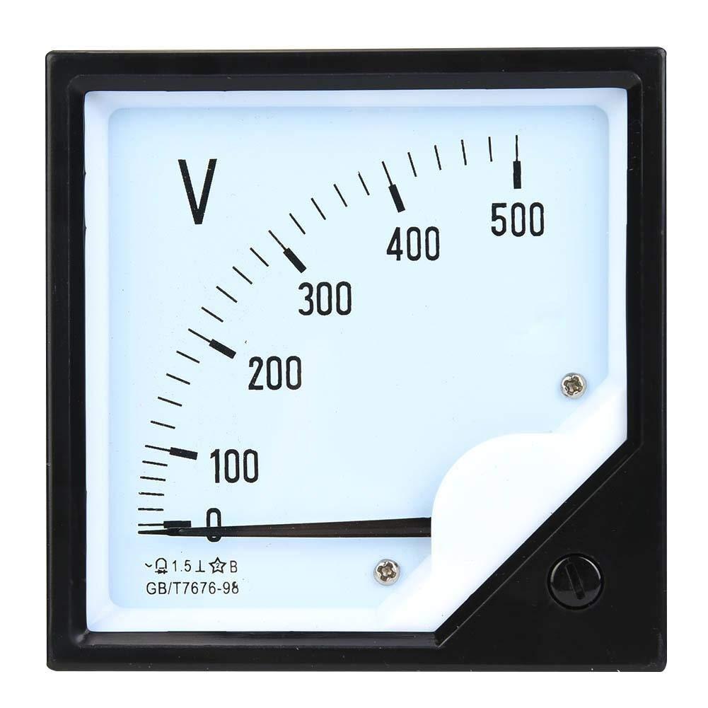 Voltmetro analogico AC 0-500V per misuratore di tensione a pannello quadrato Nitrip per dispositivi di controllo elettronico