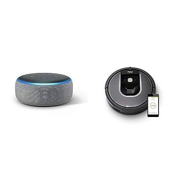 Echo Dot gris oscuro + iRobot Roomba 960 - Robot Aspirador Óptimo ...