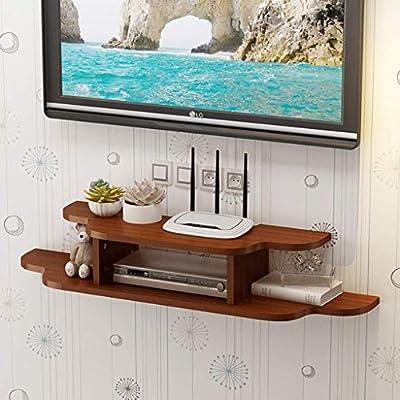 Montado en la pared de TV Soporte flotante Media Console for Router WiFi TV decodificador de señal de caja del altavoz de Transmisión de dispositivos de juego de consola de montaje en