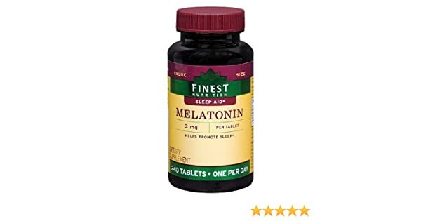 Amazon.com: Finest Nutrition Melatonin 3mg Tablets 240 ea: Health & Personal Care