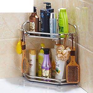 Stainless steel bathroom shelf /Toilet toilet toilet triangle rack/ floor to ceiling wall-B hot sale 2017
