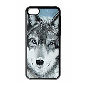 Protection Cover Hard Case Of Wolf Howling Cell phone Case For Iphone 5C