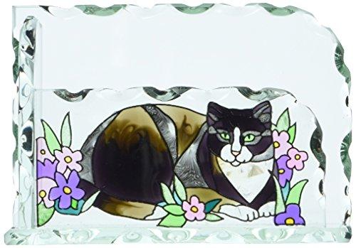 (Joan Baker Designs Tiffany Cat Art Glass Business Card)