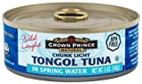 Crown Prince Natural Chunk Light Tongol Tuna in Spring Water, 5-Ounce Cans (Pack of 6)