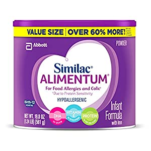 Similac Alimentum Hypoallergenic Infant Formula for Food Allergies and Colic, Baby Formula, Value Size Powder, 19.8 ounces, 4 Count