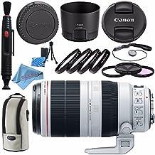 Canon EF 100-400mm f/4.5-5.6L IS II USM Lens 9524B002 + 77mm 3 Piece Filter Kit + 77mm Macro Close Up Kit + Lens Cleaning Kit + Fibercloth Bundle