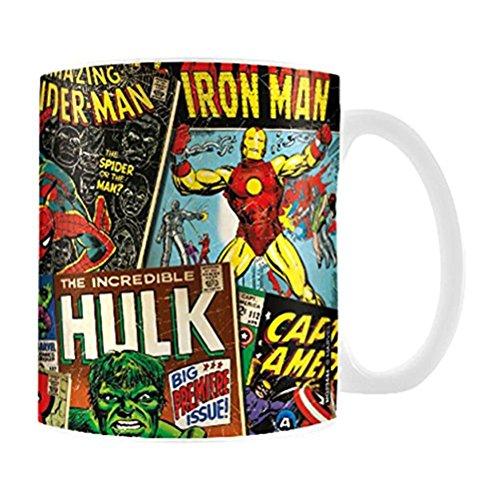 Official Marvel 'Comic Book' Design Coffee - Tea Mug - Boxed