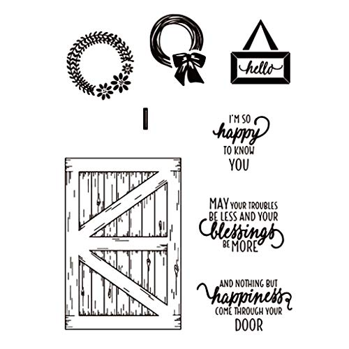 Clear Stamp Storage Kit - Tyjie Happiness DIY Clear Stamp Metal Cutting Dies Stencil Kit, Seal Scrapbook Embossing Handmade Gift Decor(1 Set)
