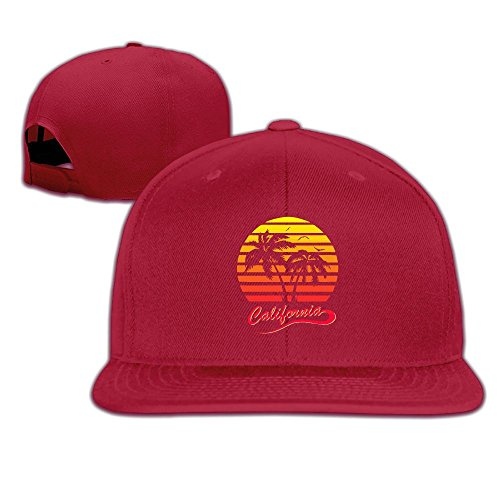 (MAGIICAP Adult Trucker Hats, Vintage California 80s Sunset Adjustable Hip Hop Flat Bill Baseball)