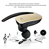 Vacio Wireless Bluetooth Headphone In-Ear Outdoor Sport Stereo Hands-free Noise Cancelling Earbuds with Mic for iPhone X/8/8plus/7/7plus,Galaxy Note8/8s,iPad/Other Bluetooth Smartphone (Gold)