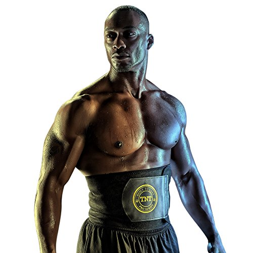 TNT Pro Series Waist Trimmer Weight Loss Ab Belt - Premium Stomach Fat Burner Wrap and Waist Trainer (X-Large, Yellow) (Burner Grid)