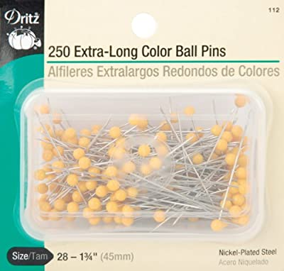 Dritz 1-3/4-Inch Extra Long Color Ball Pins 250 Count by Dritz