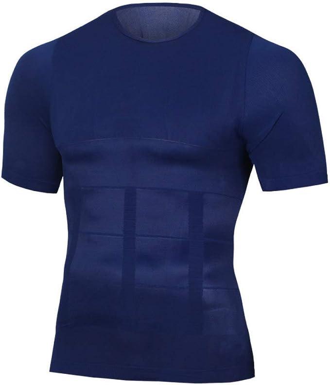 FENTINAYA Camisas de compresión para Hombres Tonificación Adelgazante Body Shaper Pérdida de Peso Entrenamiento Tops para Adelgazar: Amazon.es: Ropa y accesorios
