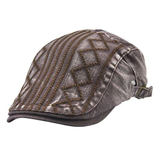 Suit Skirt Brown Tweed (UNIQUEBELLA Adjustable newsboy Cap IVY Flat Hat Gatsby Golf Driver Beret Caps For Men & Women-84-89,Dark Brown)
