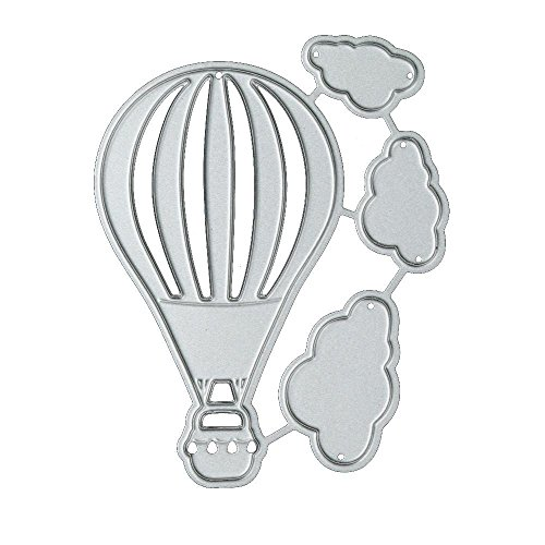 Dies Paper Card Maker Scrapbook Stencil DIY Craft, Apply to Sizzix Big Shot, Cricut Cuttlebug, Spellbinders and other Embossing Machines (Hot Air Balloon) (Christmas Envelope Templates)