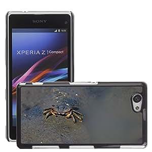Just Phone Cover Etui Housse Coque de Protection Cover Rigide pour // M00140257 Cangrejo Taiwan naturaleza animal Beach // Sony Xperia Z1 Compact D5503