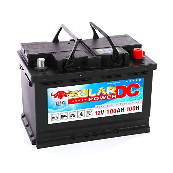51JV8 2VlPL Solarbatterie 100Ah BIG 12V Versorgungsbatterie Boot Caravan Wohnmobil Batterie