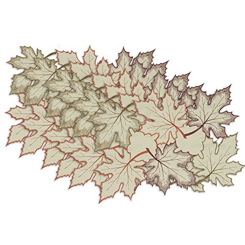 Design Imports Maple Leaves Placemats 6pcs (Set of 2) by Design Imports