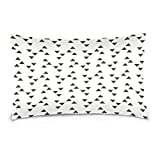WellLee Soft Cotton Velvet Decorative Pillowcase,Black And White Polka Dots,Funny Square Throw Pillow Cushion Cover,Two Side Pillow Case for Sofa,Living Room 20x36 in